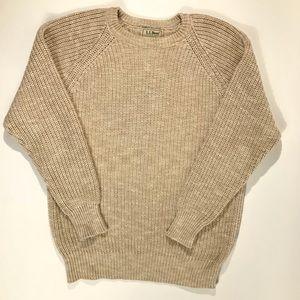 Vtg L.L. Bean Sweater Classic Fisherman Knit